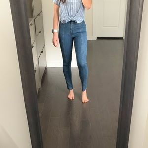 A&F High Rise Skinny Ankle Jeans